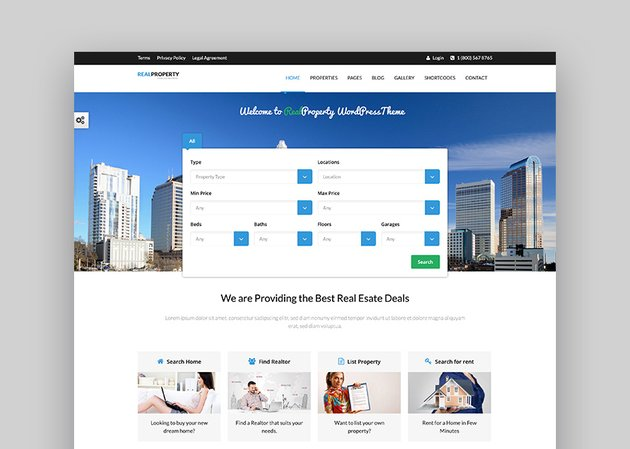 Real Property WordPress Real Estate Theme