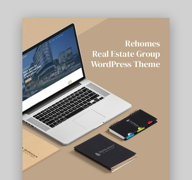 Rehomes Stylish WordPress Real Estate Template