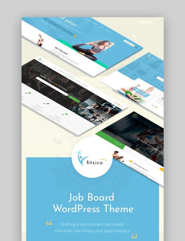Fitsica Fitness Directory Listing Job Board WordPress Theme