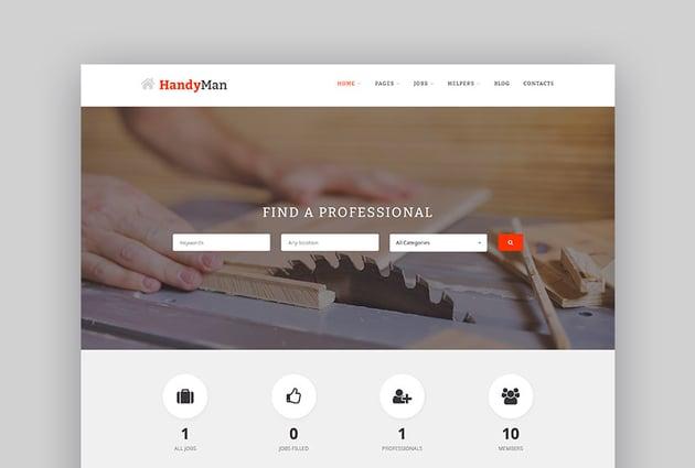 Handyman WordPress Job Portal WordPress Listing Theme