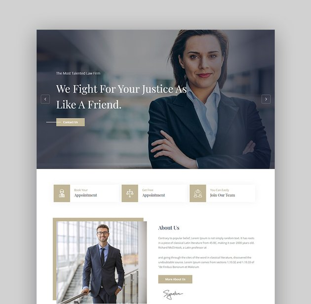 Barristar legal theme for WordPress