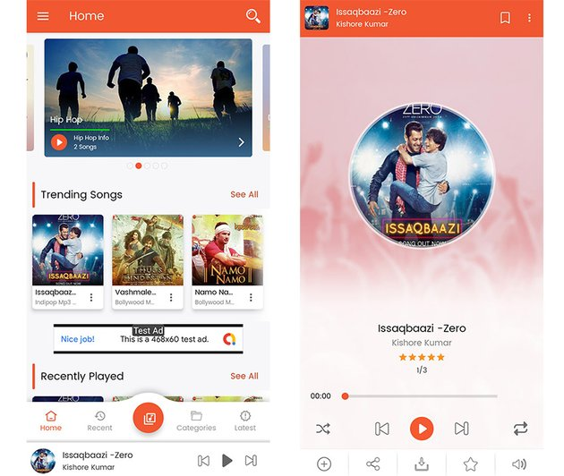 Android Music Player App Template
