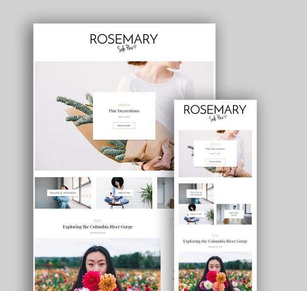 Rosemary Premium Responsive WordPress Themes