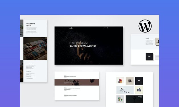 Candy video WordPress theme for business