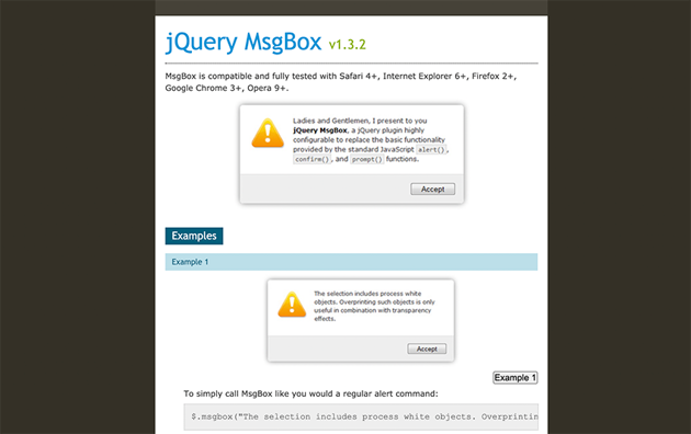 jQuery Msgbox Popup Download