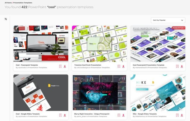 Cool PowerPoint templates with popular designs from Envato Elements