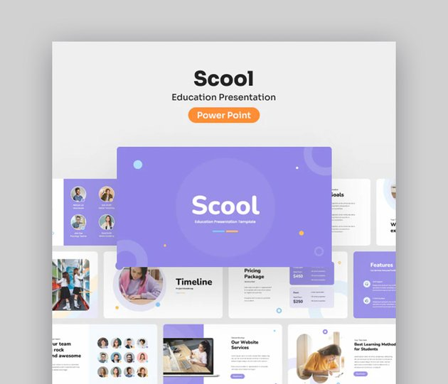 Scool Educational Awesome PPT Design