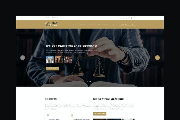 Max Law Advocate Website Template
