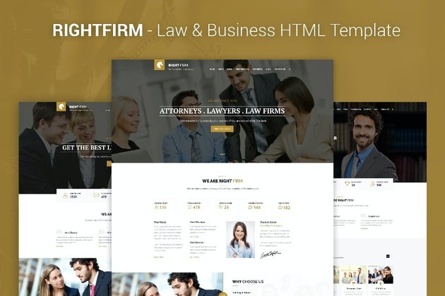 Rightfirm Law Firm Website Template