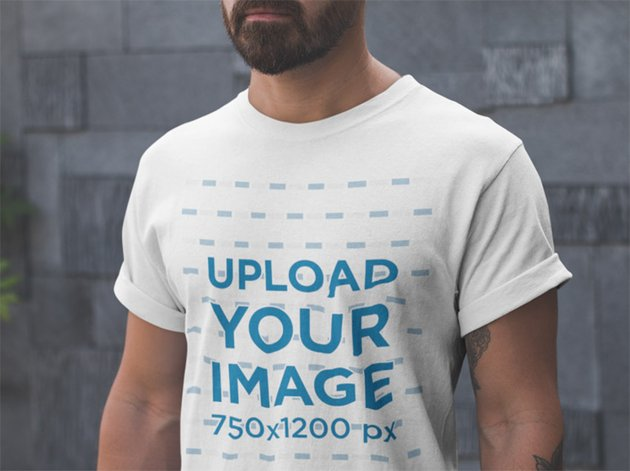 Closeup T-Shirt Mockup