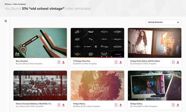 Old School Vintage Video Templates Envato Elements