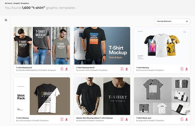 Envato Elements T-shirt Mockup Templates