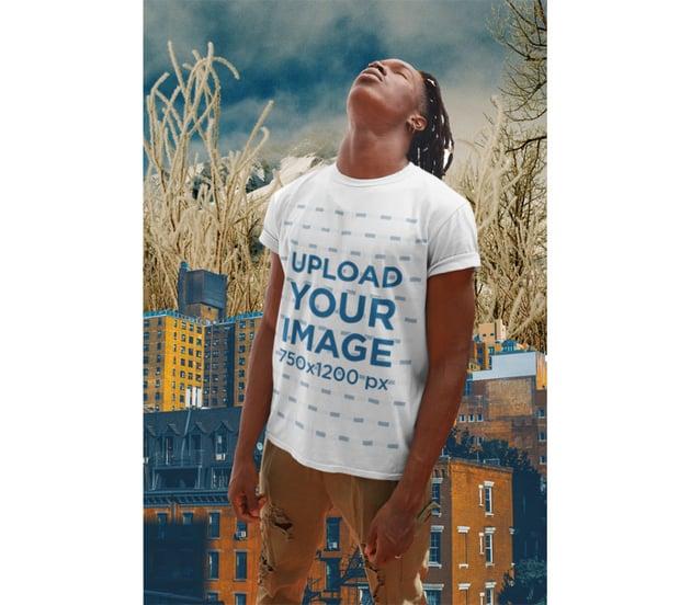 Collage Style T-Shirt Mockup Generator