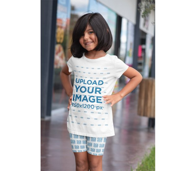 T-Shirt Mockup Generator With Young Child