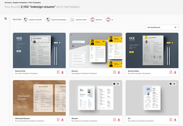 Adobe InDesign Resume Templates From Envato Elements