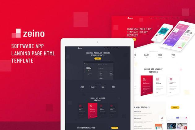 Zeino App Landing Page Design