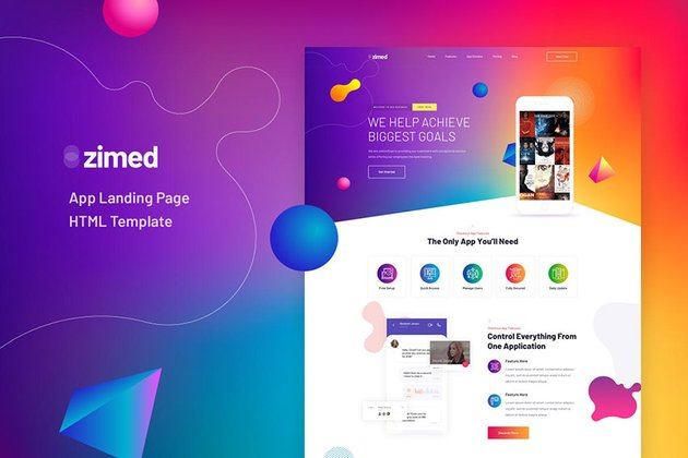 Zimed Mobile Landing Page Template