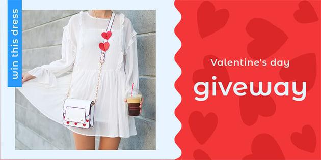 Valentines Day Giveaway Social Media Image Maker Online