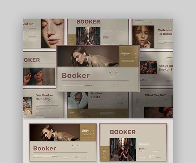 Booker Business Plan Slide Design