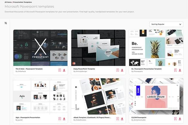 Envato Elements PowerPoint Slide Designs