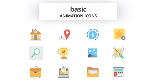 Basic Animation Icons Premiere Pro Project Template