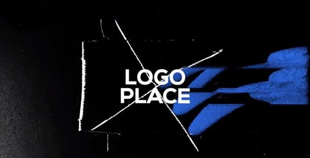 Glitch Distortion Logo Reveal Intro
