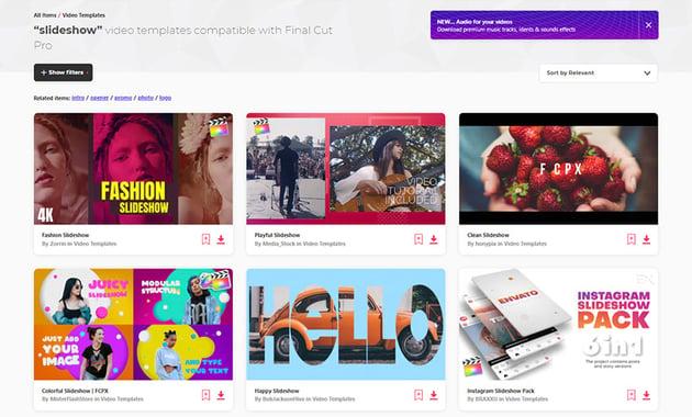 Final Cut Pro Slideshow Video Templates Envato Elements