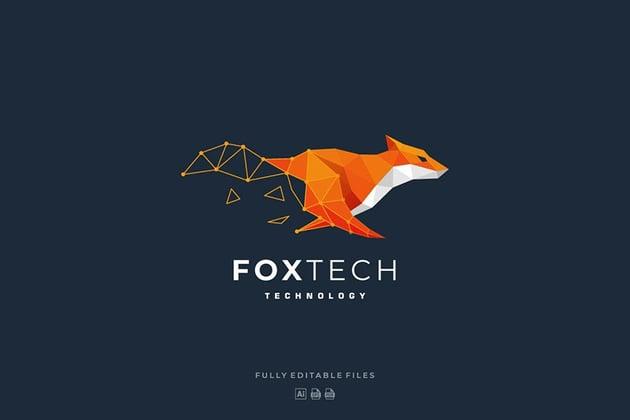 Fox Tech Colorful Logo