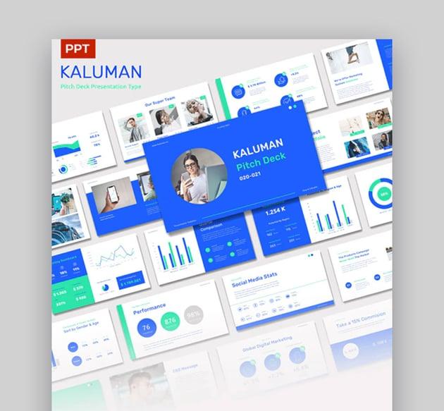 Kaluman PowerPoint Pitch Deck Template Download