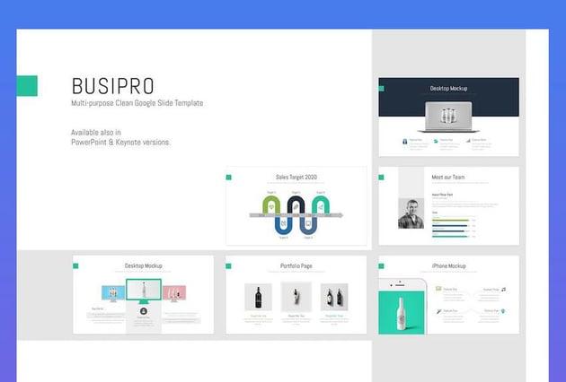 BusiPro - Clean Timeline Template Google Slides
