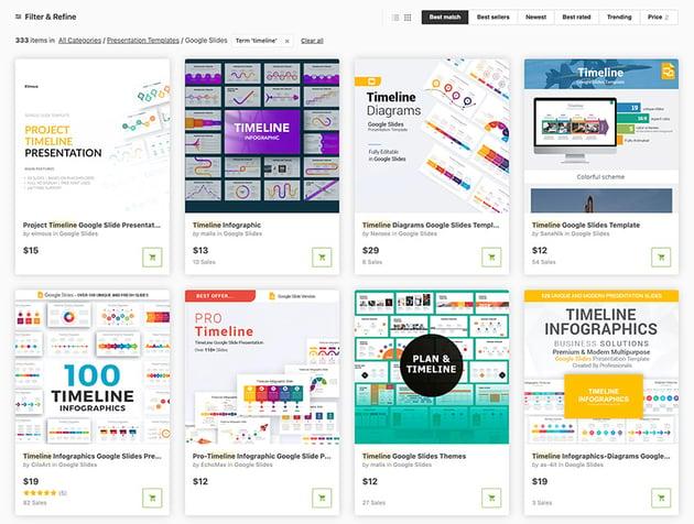 Top Google Slides Timeline Templates on GraphicRiver