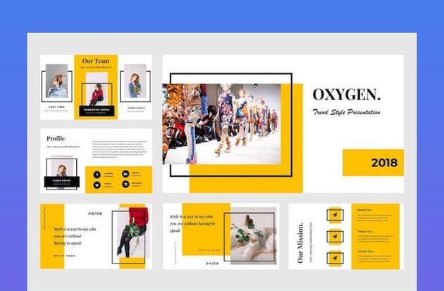 Oxygen Google Slides Timeline Theme Presentation