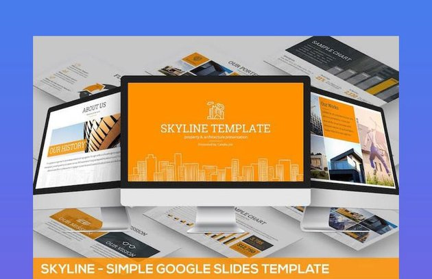 Skyline Google Slides Roadmap Template