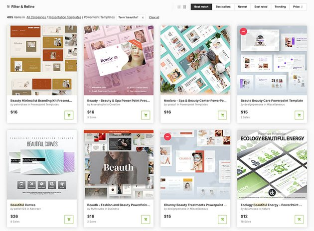 Beautiful PowerPoint Templates on GraphicRiver