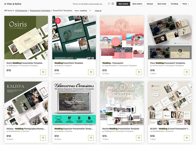 Wedding PowerPoint Themes for GraphicRiver