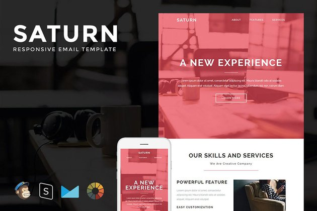 Saturn Professional Email Template With Builder