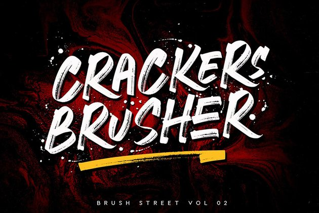 Crackers Brusher Brush Font Download