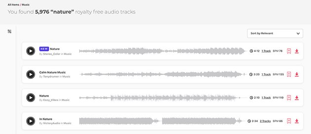 Nature Audio Background Music on Envato Elements