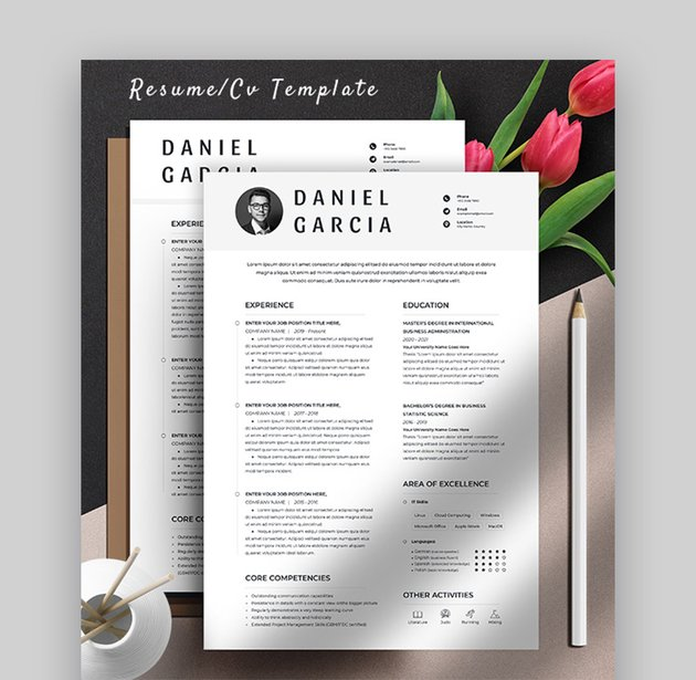 Clean Resume Template Pages Mac