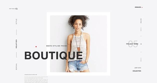 White Fashion Promo Premiere Pro Project Template Download