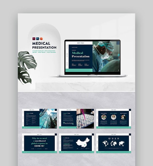 Medical PPT Template for Research Presentation