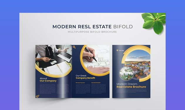 Modern Real Estate Bifold Brochure