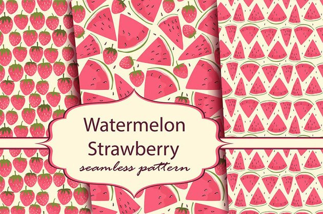 Watermelon and Strawberry for Cricut Scrapbooking