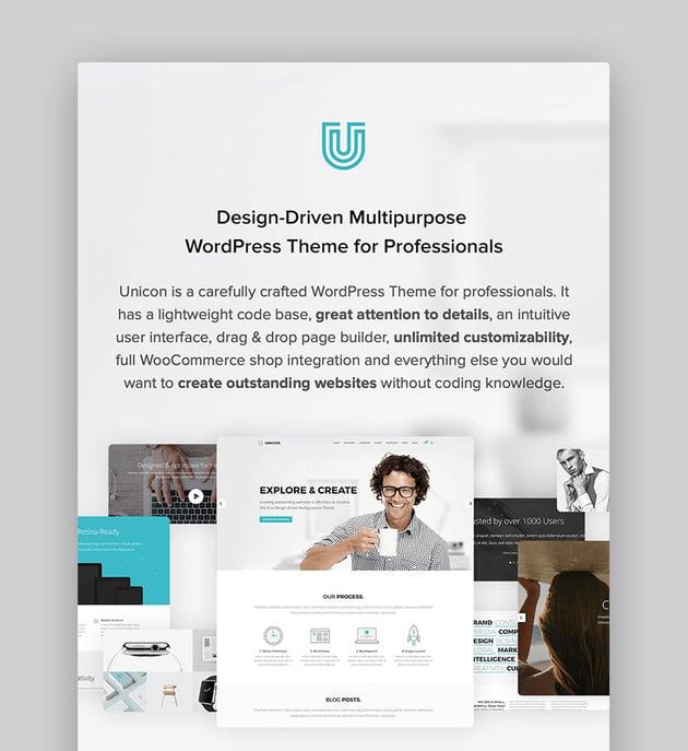 Unicon Visual Composer WordPress Multipurpose Theme