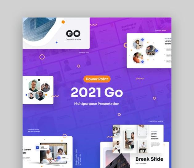 2021 Go Agenda Slide PowerPoint Template