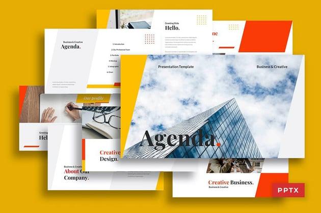 PowerPoint Agenda Slide Template