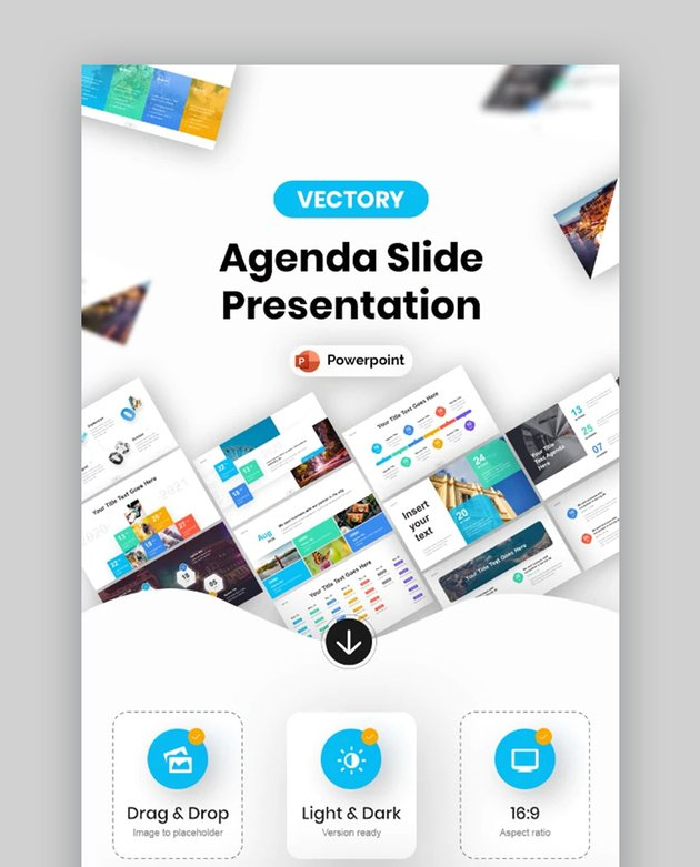 Fully Animated PowerPoint Agenda Slide Template