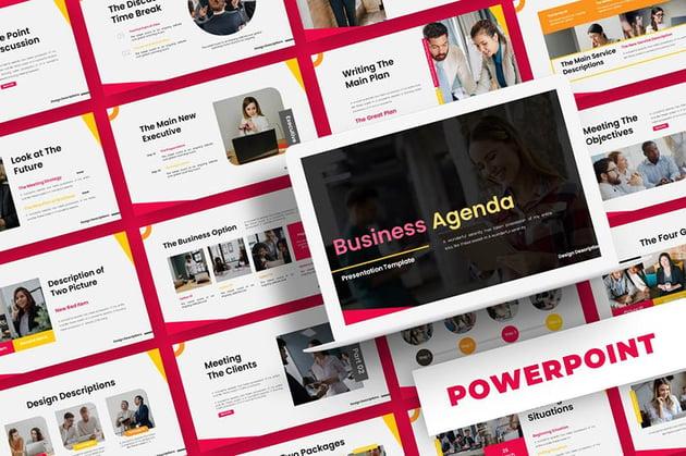 Premium Business Agenda PPT Template