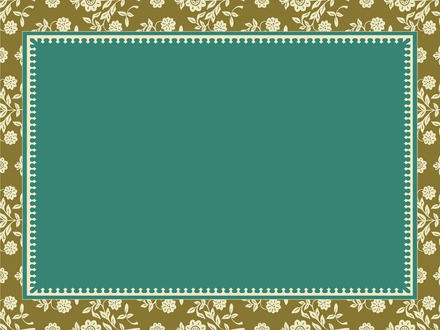 Floral Frame Free PowerPoint photo album template