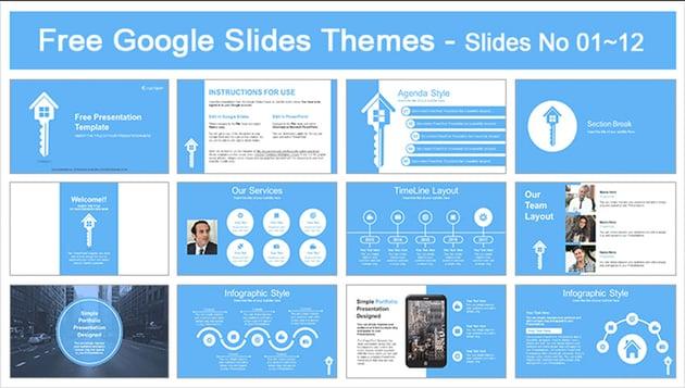 Real Estate Key Free Google Slides Templates Minimalist